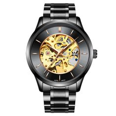 0cdcffc89f7 IK COLOURING K004 Bussiness Style Male Wacth Rose Golden Auto Mechanical  Wristwatch