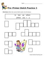 Second Grade Sight Words Worksheet   Worksheets, Dolch sight word ...