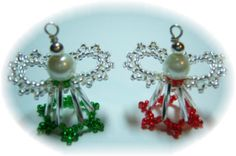 *P 3D Beaded Angel Kit Green/Red
