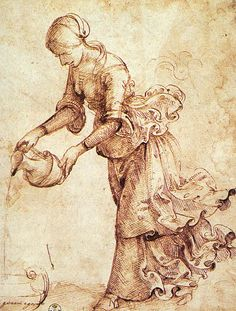 Domenico Ghirlandaio c. 1486 ---Study ----- Domenico Ghirlandaio was an Italian Renaissance painter from Florence. Among his many apprentices was Michelangelo. Michelangelo, Drawing Sketches, Art Drawings, Galerie Des Offices, Art Blanc, Renaissance Kunst, Drawing Studies, Italian Art, Old Art