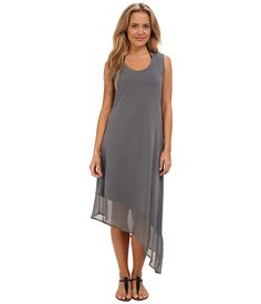 Tommy Bahama Knit & Chiffon Scoop Neck Hi-Low Tea Length Dress Cover-Up Cave/Cave - Zappos.com Free Shipping BOTH Ways