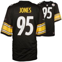 4576ed22149 Jarvis Jones Pittsburgh Steelers Fanatics Authentic Autographed Nike Game  Jersey