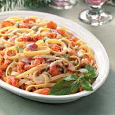 Crawfish Fettuccine - although I use shrimp and crabmeat instead of crawfish. This is SO good!