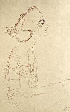 Gustav Klimt a woman