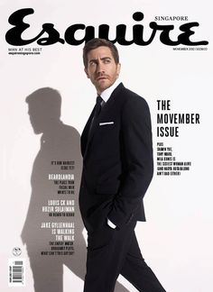 Jake Gyllenhaal on a photoshoot for the movie «Prince of Persia: The Sands of Time Cool Magazine, Book And Magazine, Editorial Layout, Editorial Design, Esquire, Gq, Magazin Covers, Brochure Layout, Magazine Cover Design