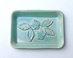 Keramik Seifenschale Keramik und Töpferei Lace-Dekor von bemika