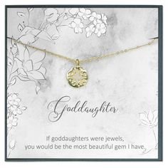 Goddaughter Gifts from Godmother, Goddaughter Necklace, Baptism Gift, First Communion Gift Girl, Confirmation Gifts for Girls Sister Of The Groom, Daughter Of God, Bride Sister, Gifts For Wife, Girl Gifts, Gifts For Her, Communion Gifts Girl, Apology Gifts, Goddaughter Gifts
