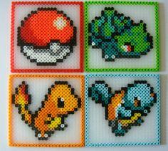 Pokemon Coasters - Set of 4. $16.00, via Etsy.