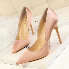 Available Sizes : Heel Height : Platform Height : Heel Height : High Heel Type : Stiletto Boot Shaft : Ankle Color : Pink Toe : Point Shoe Vamp : PU Leather Closure : Slip-On/Pull-On High Heel Boots, Knee Boots, Heeled Boots, Black Court Shoes, Tassel Heels, Shoe Vamp, Wedding Heels, Party Shoes, Pumps Heels
