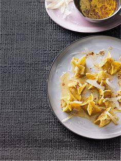 Würzige Fagottini mit Kartoffel - Steinpilzfüllung