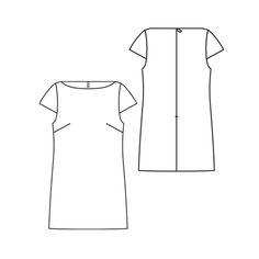 Burda Cap Sleeve Shift Dress