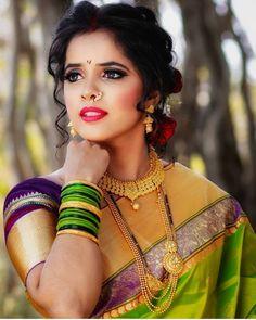 Marathi Nath, Marathi Bride, Beautiful Girl Image, Beautiful Bride, Indian Look, Beautiful Indian Actress, Housewife, Indian Beauty, Indian Actresses
