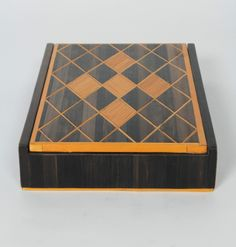 Andre Arbus (attr.) French Art Deco Straw Marquetry Box c. 1940