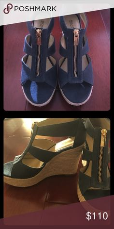Michael Kors Wedges brand new Brand new Michael Kors wedges. Perfect for any occasions. Easy to walk for long day. It's super cute with any outfits Shoes Wedges