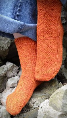 Inlay sock: Knitty First Fall 2011