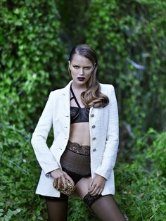 Zosia Nowak Sports Strict and Sensual Style for Elle Greece November 2012 by DImitris Skoulos