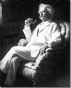 Mark Twain e seu cachimbo