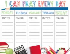 Free Back to School Prayer Calendar for Kids.  Download it here: http://www.childrens-ministry-deals.com/products/back-to-school-prayer-calendar