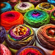"""Everywhere you look, there are more incredible colors. ~ From things that happen when knitters get together"""" Knit Or Crochet, Awesome Stuff, Rainbows, Rainbow Colors, Color Inspiration, Squad, Needlework, 18th, Crochet Patterns"""