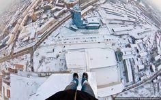 Moscou en hiver, et vu d'en haut :)