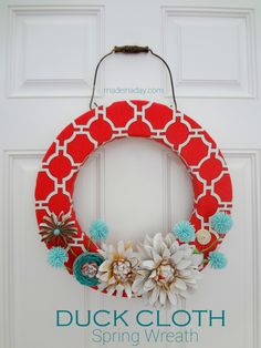 Spring Wreath~ Duck Cloth Flat Pattern Style |