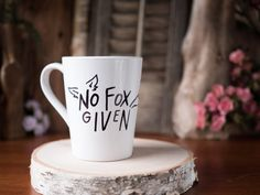 No Fox Given Ceramic Coffee Mug Coffee Cup Hand by HappyAbout