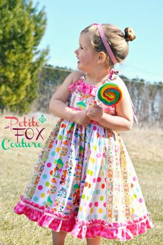 The Sweet as Candy Dress CUSTOM Couture Ruffled Halter Dress by PetiteFoxCouture, $120.00