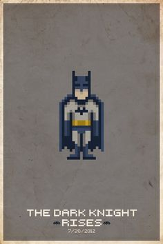 8-Bit Comic Book Movie Posters