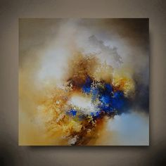 Groot Abstract olieverfschilderij door door SimonkennysPaintings