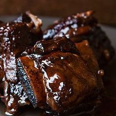 Pressure Cooker Bacon Braised Short Ribs
