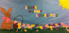 Spring Easter Bunny Bulletin Board Idea