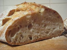 No-kneed Sourdough Bread