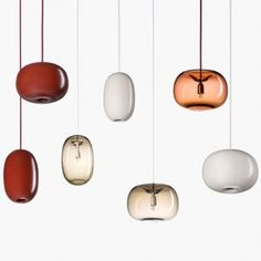 Joel Karlsson designs pebble-shaped  pendant lights for Örsjö Belysning