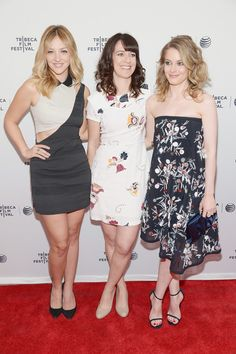 """Abby Elliott, Susanna Fogel and Gillian Jacobs at the 2014 Tribeca Film Festival Premiere of """"Life Partners"""" Abby Elliott, Gillian Jacob, Tribeca Film Festival, Four Seasons Hotel, Life Partners, Photo L, Red Carpet Fashion, American Actress, Actresses"""