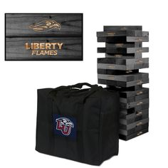 Giant Tumble Tower Game - Liberty University Flames