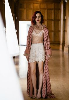 Editorial: Lily Collins wears the Karmic Stamp Trench from our Ready-to-Wear…