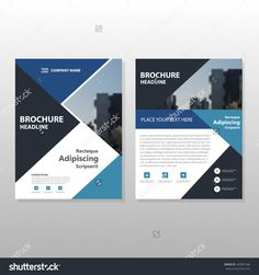 Blue Annual Report Brochure Flyer Design Template Vector Leaflet - Brochure flyer templates
