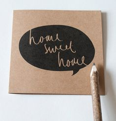 Home Sweet Home Card  135x135 cm Greeting card by OldEnglishCo, £2.95