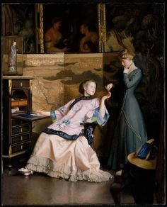 The New Necklace (1910). William McGregor Paxton (American, 1869–1941). Oil on canvas. Museum of Fine Arts, Boston. Paxton has implied a narrative, involving the letter being written and the necklace....