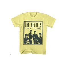 Beatles T-Shirt ($23) ❤ liked on Polyvore featuring tops, t-shirts, beige t shirt and beige top