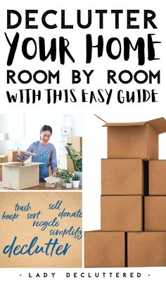 Decluttering your home isn't the hardest things to do, but following through to the end proves to be a difficult challenge. If you are really serious about getting your home decluttered then this guide might be exactly what you need. Decluttered will help you tackle your entire home drawer by drawer and room by room until you have reached all of your decluttering goals! #ladydecluttered #decluttered #howtodeclutteryourhome #declutteringguide #howtodeclutterroombyroom #ebook…