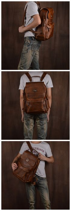 Leather Backpack, Travel Backpack, School Backpack