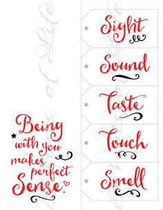 Five Senses Gift Tags & Card. Date Night idea 5 senses Instant Bday Gifts For Him, Surprise Gifts For Him, Thoughtful Gifts For Him, Romantic Gifts For Him, Christmas Gifts For Him, Holiday Gifts, Christmas Diy, Valentines Surprise For Him, Christmas Birthday