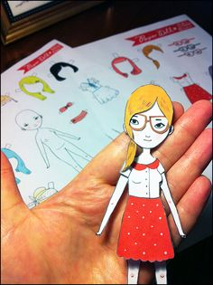 Paper dolls, by Mel Stringer!