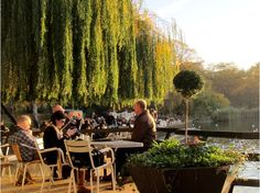 The Serpentine bar and restaurant, Hyde Park- Gorgeous place to have a pizza and wine on a sunny arvie. They do great cider too. Overlooking the serpentine.