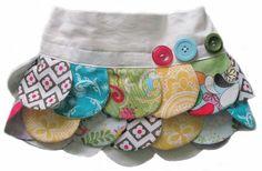 Falda petalos de colores!!