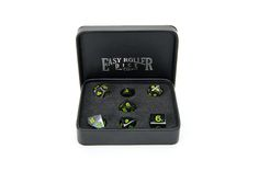 Win This Gun Metal 7 Piece Dice Set With Box!