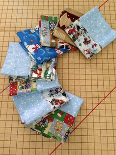 Beautiful Christmas pillowcases that Diana in CA is making to send to the…