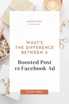 If you're new to Facebook ads and haven't really dived in to all that techy stuff and don't have much experience with it, I'll totally let you off the hook for thinking that a boosted post on Facebook is the same as a Facebook ad. I know, not what you wanted to hear, so I've put together a few tips to help you out in identifying and knowing exactly what the difference is. #smallbusiness #facebookads #entrepreneurs Advice, Ads, Let It Be, Marketing, Facebook, Tips