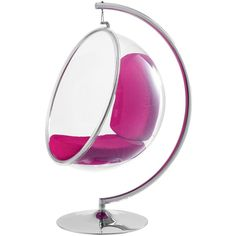 Bubble Chair in Pink (2,145 SGD) ❤ liked on Polyvore featuring home, furniture, chairs, decor, home stuff, pink furniture, modern contemporary furniture, pink chair, contemporary furniture ve bubble chair